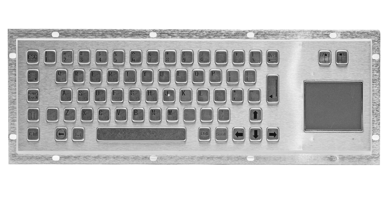 Rugged panel mount keyboard with trackball KMK-PC-DT