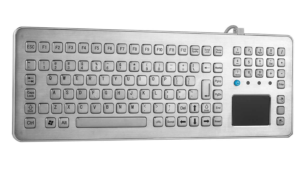 Rugged desktop keyboard with touchpad KMK-PC-TouchDesk01