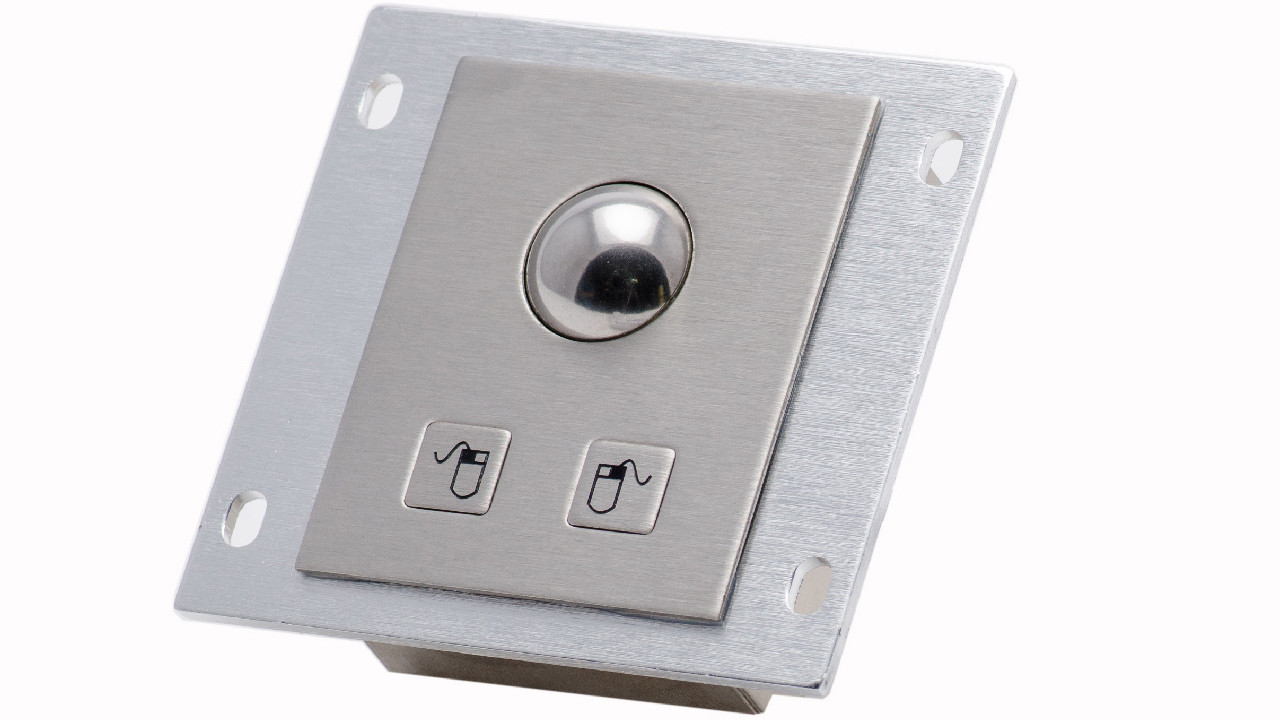 Vandal-proof panel mount trackball KMK-TB-25G