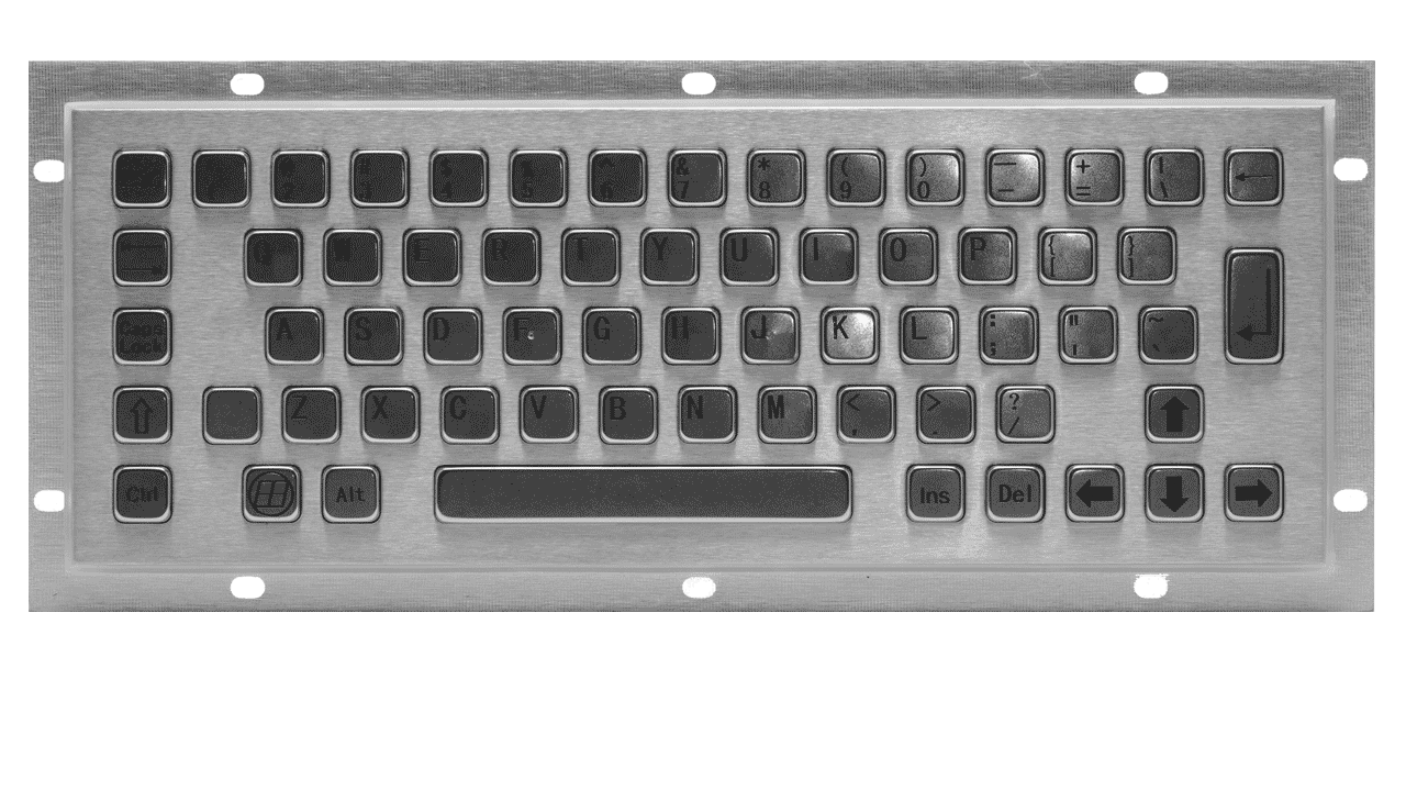 Rugged panel mount keyboard KMK-PC-C