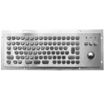 Rugged panel mount keyboard with trackball KMK-PC-Mini2