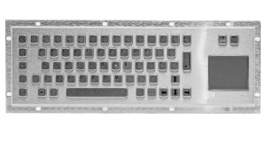 Rugged panel mount keyboard with touchpad KMK-PC-DT