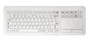 MEDICAL CAPACITIVE TOUCH KEYBOARD WITH GLASS SURFACE TG-PC-I-S