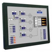 INDUSTRIAL TOUCH MONITOR KEETOUCH 15'' OPEN FRAME KOT-0150U-IR3W