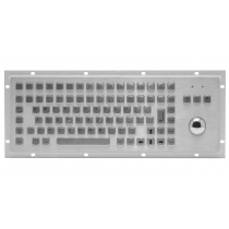 Rugged panel mount keyboard with trackball KMK-PC-F2